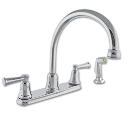 Picture of TWO HANDLE HIGH ARC KITCHEN FAUCET W/SPRAY - CHROME
