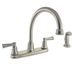 Picture of TWO HANDLE HIGH ARC KITCHEN FAUCET W/SPRAY - STAINLESS STEEL