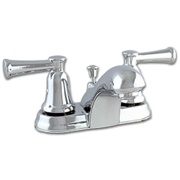 Picture of TWO LEVER LAVATORY FAUCET W/POP-UP - CHROME