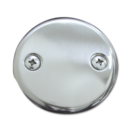 Picture of 2-HOLE BLANK OVERFLOW PLATE - BRUSHED NICKEL