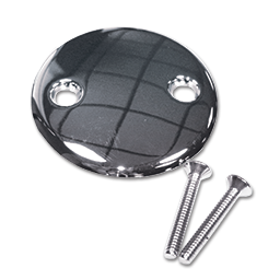 Picture of 2-HOLE BLANK OVERFLOW PLATE - CHROME