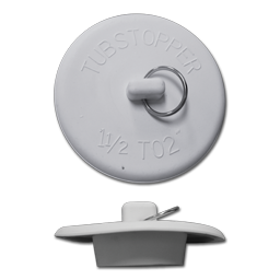 "Picture of FIT-ALL WHITE RUBBER LAVATORY STOPPER - 1"" TO 1-3/8"""