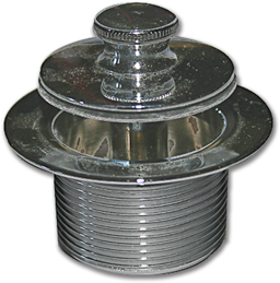 "Picture of WATCO PUSH & PULL COARSE THREAD TUB STOPPER 1-7/8"" OD X 11-1/2"" TPI - CHROME"