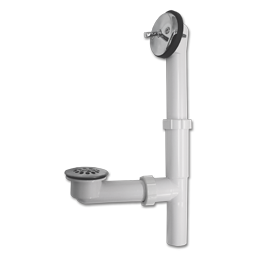 Picture of PVC TRIP LEVER BATH WASTE CHROME PLATED PLASTIC STRAINER