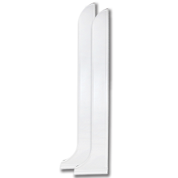 """Picture of LARGE MAXI SPRAY SPLASH GUARDS 44"""" HIGH X 9-1/2"""" LONG - PAIR"""