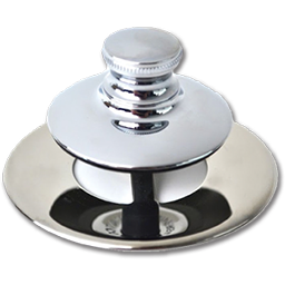 Picture of WATCO UNIVERSAL NUFIT PUSH PULL TUB STOPPER WITH NO GRID - CHROME