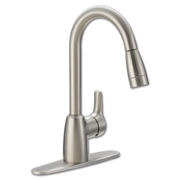Picture of CFG BAYSTONE ONE HANDLE PULL-DOWN KITCHEN FAUCET - STAINLESS STEEL