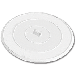 "Picture of 5"" SUCTION DRAIN STOPPER - FLAT WHITE RUBBER"