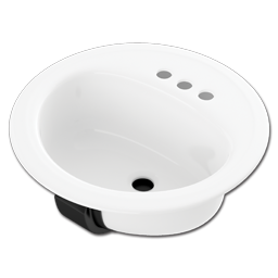 "Picture of 17"" X 20"" PORCELAIN LAVATORY SINK - BONE"