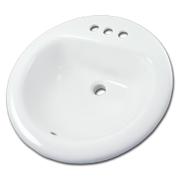 "Picture of 19"" ROUND VITREOUS CHINA LAVATORY SINK - WHITE"