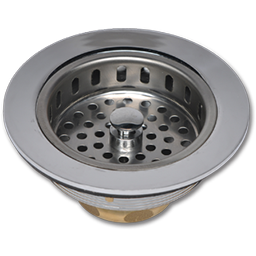 Picture of SINK STRAINER ASSEMBLY - CHROME PLATED BRASS & BRASS THREAD