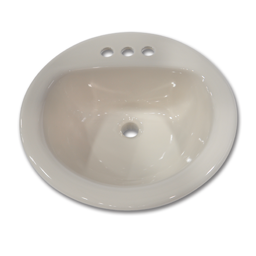 "Picture of 19"" ROUND LAVATORY SINK PORCELAIN ON STEEL - BONE"