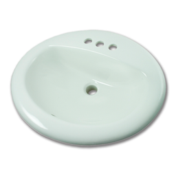 "Picture of 17"" X 20"" OVAL WHITEFALLS VITREOUS CHINA LAVATORY SINK - WHITE"