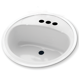 "Picture of 18"" ROUND LAVATORY SINK PORCELAIN ON STEEL - WHITE"