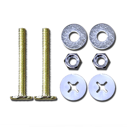 """BOWL TO FLOOR TOILET BOLTS BRASS PLATED - 5/16"""" X 2-1/4"""""""