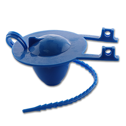 Picture of BLUE TOILET TANK FLAPPER WITH RUBBER STRAP
