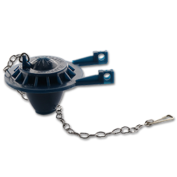 Picture of BLUE TOILET TANK FLAPPER WITH STAINLESS STEEL CHAIN & HOOK
