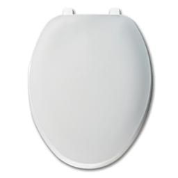 Picture of WHITE SLOW CLOSE ELONGATED PLASTIC TOILET SEAT WITH CLOSED FRONT