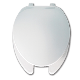 Picture of WHITE ELONGATED PLASTIC TOILET SEAT WITH OPEN FRONT