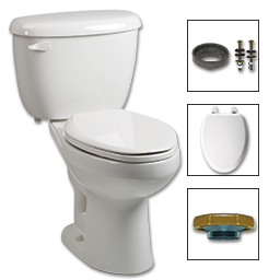 WHITEFALLS TOILET-IN-A-BOX 1.28GPF ADA ELONGATED - WHITE
