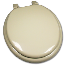 Picture of ROUND BONE PLASTIC TOILET SEAT