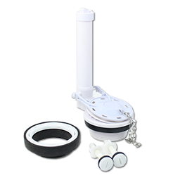 """Picture of 3"""" TOILET FLUSH VALVE KIT W/NUT, TANK BOLTS, AND TANK GASKET"""