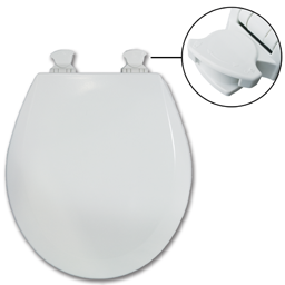 Picture of BEMIS EZ CLEAN ROUND TOILET SEAT - 500EC/540EC
