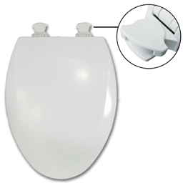 Picture of BEMIS EZ CLEAN ELONGATED TOILET SEAT - 1500EC/585EC