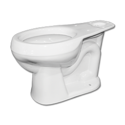 "Picture of MANSFIELD ALTO 1.28 or 1.6 GPF RF TOILET BOWL - WHITE - 10"" ROUGH-IN"