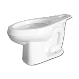 Picture of MANSFIELD 1.28 or 1.6 GPF ELONGATED TOILET BOWL - WHITE