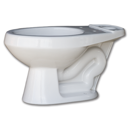 Picture of WHITEFALLS ELONGATED TOILET BOWL 1.6 GALLON - WHITE