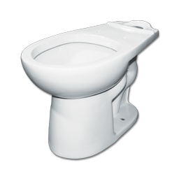 Picture of WHITEFALLS WHITE TOILET BOWL - 1.28 GALLON