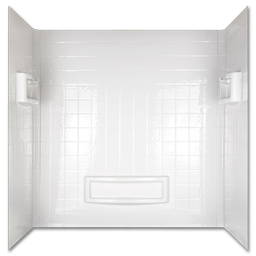 Picture of TUB WALL ENCLOSURE 3 PIECE SET - WHITE
