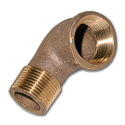 """Picture of 3/4""""FIP X 3/4""""MIP BRASS STREET ELBOW PIPE FITTING"""