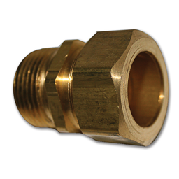 "Picture of 5/8""OD COMP X 3/4""MIP BRASS UNION FOR WATER HEATER"