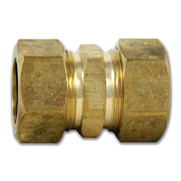 "Picture of 7/8"" X 7/8"" BRASS COMPRESSION UNION - 3/4"" ID"