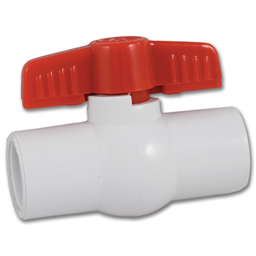 "Picture of 3/4"" PVC BALL VALVE"