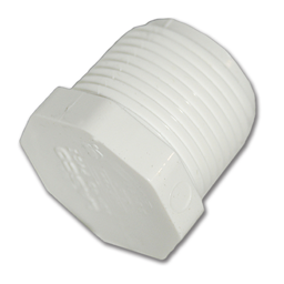 "Picture of 1/2"" PVC PLUG - THREADED"