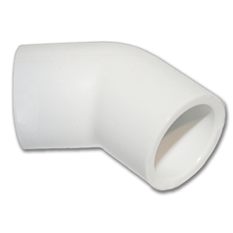 "Picture of 1/2"" PVC ELBOW 45°"