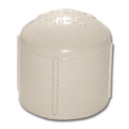 "Picture of 3/4"" THREADED PVC CAP"