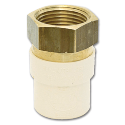 "Picture of 1/2"" CPVC SLIP X BRASS FIP TRANSITION ADAPTER"
