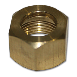 "Picture of 3/8"" BRASS COMPRESSION NUT"