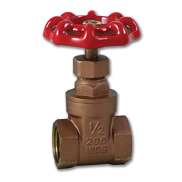 "Picture of 1/2"" IPS BRASS GATE VALVE - 125 PSI"