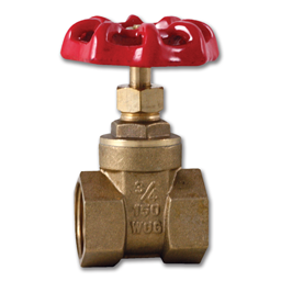 "Picture of 3/4"" IPS BRASS GATE VALVE - 125 PSI"
