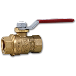 "Picture of 1/2"" IPS BRASS FULL PORT BALL VALVE - 150 PSI"