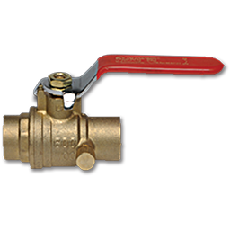 "Picture of 3/4"" SWEAT BRASS STOP & WASTE VALVE - 600PSI WOG"