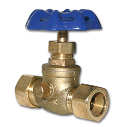 "Picture of 5/8"" OD COMPRESSION BRASS STOP & WASTE VALVE"