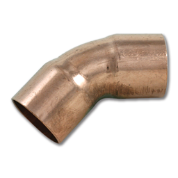 "Picture of 1/2"" ID WROT 45° COPPER ELBOW"