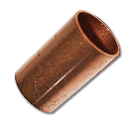 "Picture of 5/8""OD (1/2""ID) COPPER COUPLING - NO STOP"