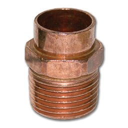 """Picture of 1/2"""" SWT X 1/2"""" MIP COPPER ADAPTER"""
